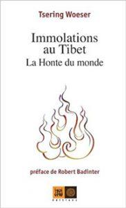 couverture Immolations au Tibet – La Honte du monde