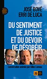 Couverture Bove-Luca Du sentiment de justice et du devoir de désobéir